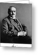 Alois Alzheimer, German Neuropathologist Greeting Card by Science Source