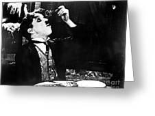 Chaplin: Gold Rush. 1925 Greeting Card by Granger
