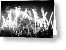 Disney Castle At Night Greeting Card by Fizzy Image