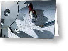 Engineering Equipment Greeting Card by Tek Image