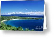 Fiji Wakaya Island Greeting Card by Larry Dale Gordon - Printscapes