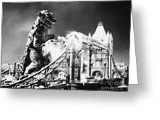 Godzilla Greeting Card by Granger