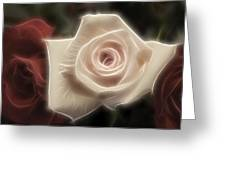 3 Little Roses For Patrice Greeting Card by Kevin  Sherf
