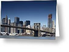 Nyc Brooklyn Bridge Greeting Card by Nina Papiorek