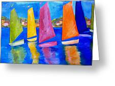 Reflections Of Tortola Greeting Card by Patti Schermerhorn
