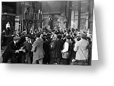 Silent Film Still: Crowds Greeting Card by Granger