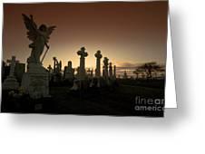 The Graveyard Greeting Card by Angel  Tarantella
