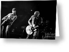 U2 Greeting Card by Jenny Potter