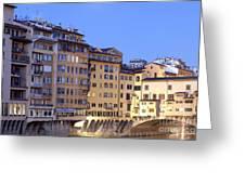 Vecchio Bridge Greeting Card by Andre Goncalves