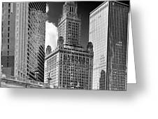 35 East Wacker Chicago - Jewelers Building Greeting Card by Christine Till