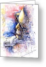 Jazz Ray Charles Greeting Card by Yuriy  Shevchuk