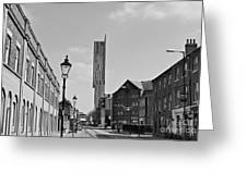 Manchester - Beetham Tower Greeting Card by Hristo Hristov