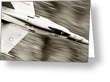 Speed Of Sound Greeting Card by Angel  Tarantella