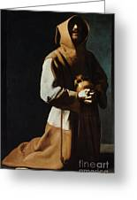 St Francis Of Assisi Greeting Card by Granger