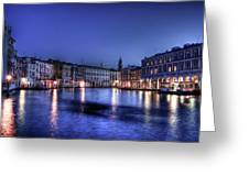 Venice By Night Greeting Card by Andrea Barbieri