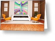 An Example Of Modern Art By Rolf Bertram In An Interior Design Setting Greeting Card by Rolf Bertram