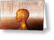 Artificial Intelligence Greeting Card by Mehau Kulyk