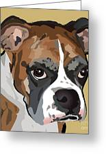 Boxer Dog Portrait Greeting Card by Robyn Saunders