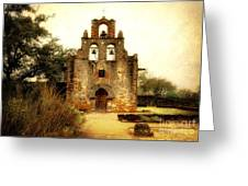 Mission Espada Greeting Card by Iris Greenwell