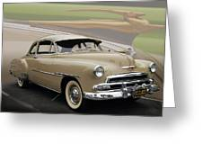51 Chevrolet Deluxe Greeting Card by Bill Dutting
