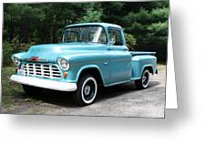 57 Chevy Greeting Card by Anne Babineau