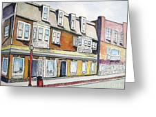 5th and Cambridge Streets Cambridge Mass Street Sweep Day Greeting Card by Carolyn Weir