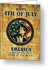 American Revolution Soldier General  Greeting Card by Aloysius Patrimonio