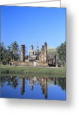 Wat Mahathat Greeting Card by Gloria & Richard Maschmeyer - Printscapes