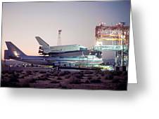 747 With Space Shuttle Enterprise Before Alt-4 Greeting Card by Brian Lockett