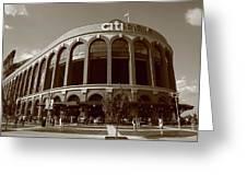 Citi Field - New York Mets Greeting Card by Frank Romeo