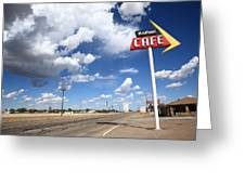 Route 66 Cafe Greeting Card by Frank Romeo