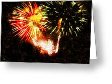 A 4th Celebration  Greeting Card by Adam Vance