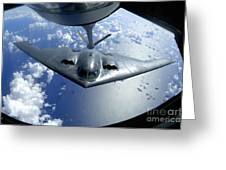 A B-2 Spirit Moves Into Position Greeting Card by Stocktrek Images
