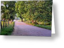 A Beautiful Sparks Lane Morning Greeting Card by Thomas Schoeller
