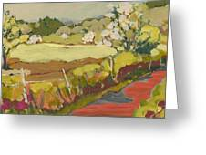 A Bend In The Road Greeting Card by Jennifer Lommers