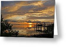 A Brooding Sunset Sky Greeting Card by HH Photography of Florida