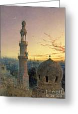 A Call To Prayer Greeting Card by Henry Stanier