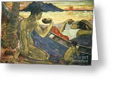 A Canoe Greeting Card by Paul Gauguin