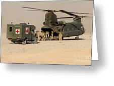 A Ch-47 Chinook Helicopter Drops Greeting Card by Andrew Chittock