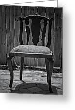 A Chair In Despair Greeting Card by DigiArt Diaries by Vicky B Fuller