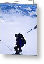 A Climber On The Descent Greeting Card by Bill Hatcher