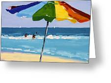 A Colorful Spot Greeting Card by Debbie Miller