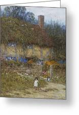 A Cottage Near Godalming Surrey Greeting Card by Helen Allingham