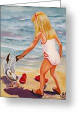 A Day At The Beach Greeting Card by Joni McPherson