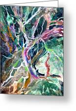 A Dying Tree Greeting Card by Mindy Newman
