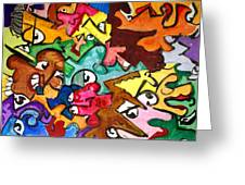 A Face In The Crowd Greeting Card by Jame Hayes