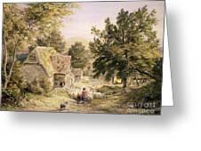 A Farmyard Near Princes Risborough Greeting Card by Samuel Palmer