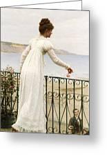 A Favour Greeting Card by Edmund Blair Leighton