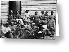 A Group Of Slaves Greeting Card by Photo Researchers