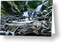 A New Way To The Waterfall Greeting Card by Jeff  Swan